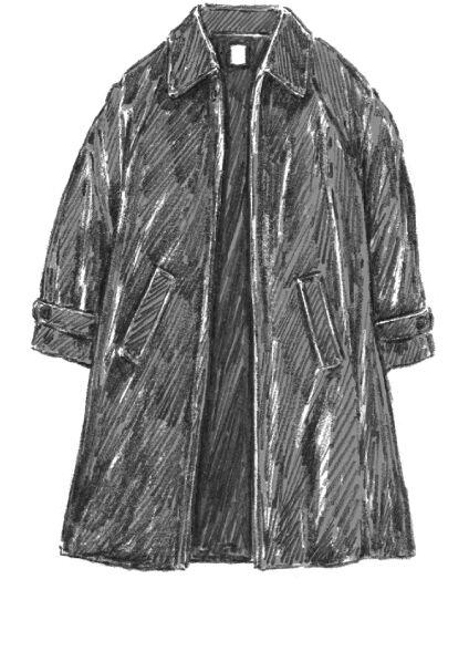 フレアステンカラーコート
