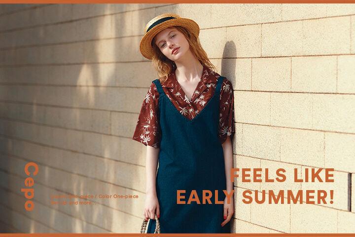 FEELS LIKE EARLY SUMMER! 初夏の陽射しによく似合う《セポ》のリラクシングスタイル。