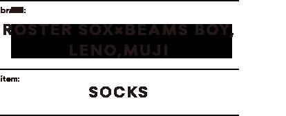 brand:MUJI,MUJI,MUJI item:SOCKS