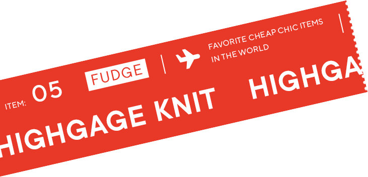 ITEM 05 [FUDGE] HIGHGAGE KNIT