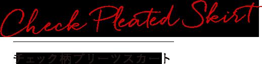 Check Pleated Skirt チェック柄プリーツスカート