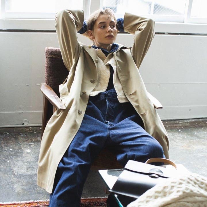 """デニムと好相性なステンカラーコート【""""2wayアウター""""ガールの着まわし31days】"""