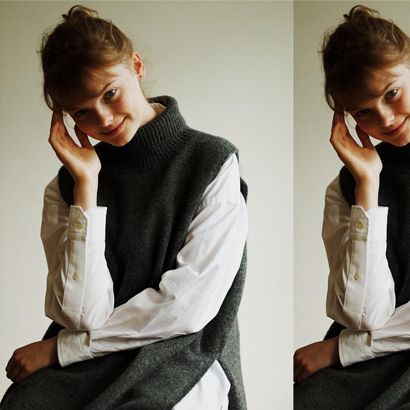 #4 Turtleneck Knit × Shirt photo