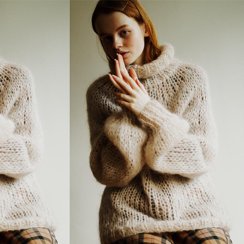 #5 Turtleneck Knit × One-piece photo
