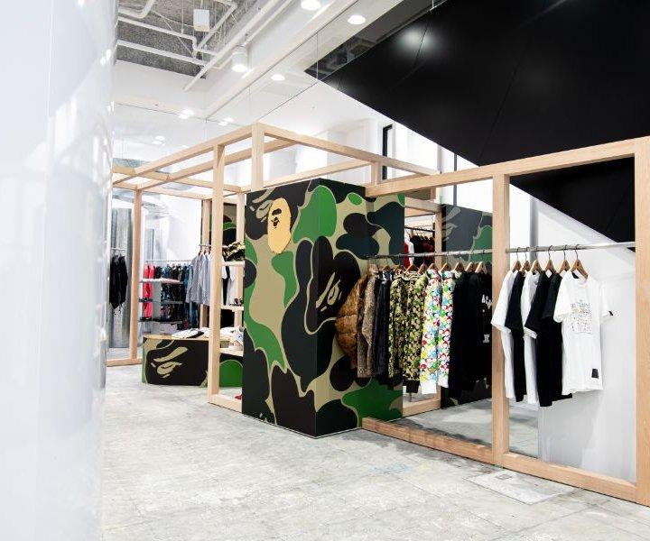 リニューアルした「コムデギャルソン大阪店」の1階に《BAPE®》初のショップインショップがオープン