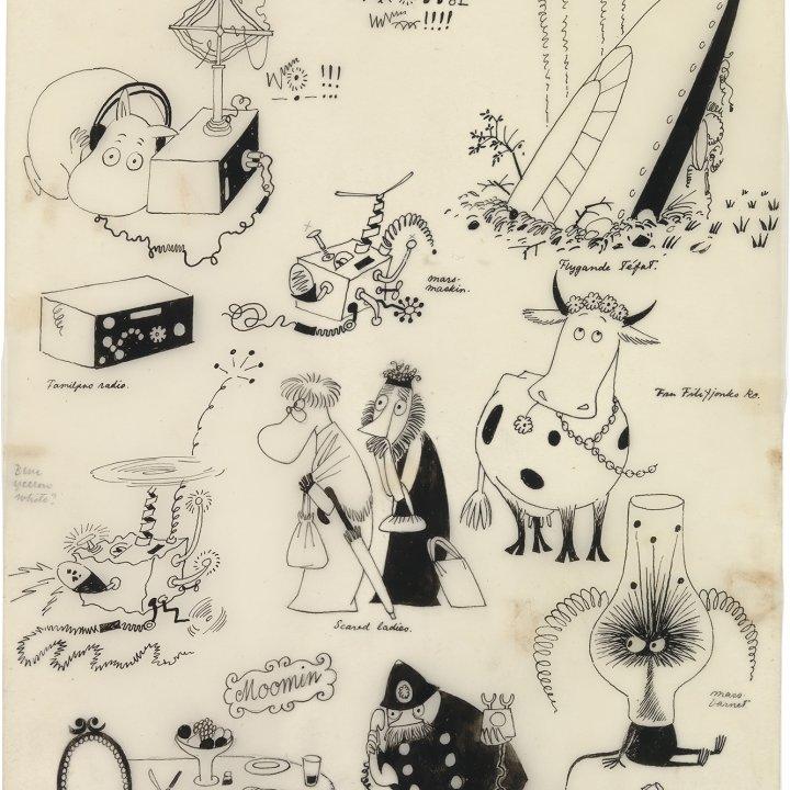 ムーミンのマンガ原画やスケッチがたっぷり見られる!東京・松屋銀座にて「ムーミン コミックス展」が開催中