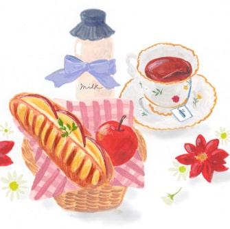 りんごとミルクのクリスマスヴィエノワの絵