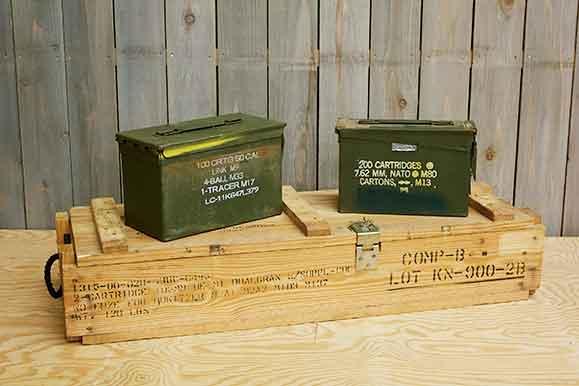 弾薬箱、木製ケース