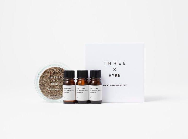 《THREE》×《HYKE》による100%天然精油のルームフレグランスが誕生。ポップアップストアも開催中