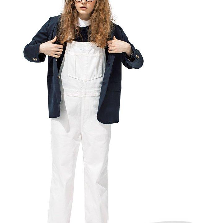 春らしい真っ白なホワイトサロペットのコーデ【本日のFUDGE GIRL-3月16日】