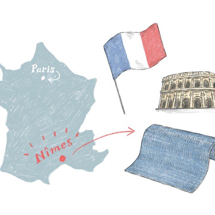 フランスのニーム発祥、今では世界じゅうの人々に親しみのある「デニム地」【お洒落さんのためのファッション用語辞典 vol.04】