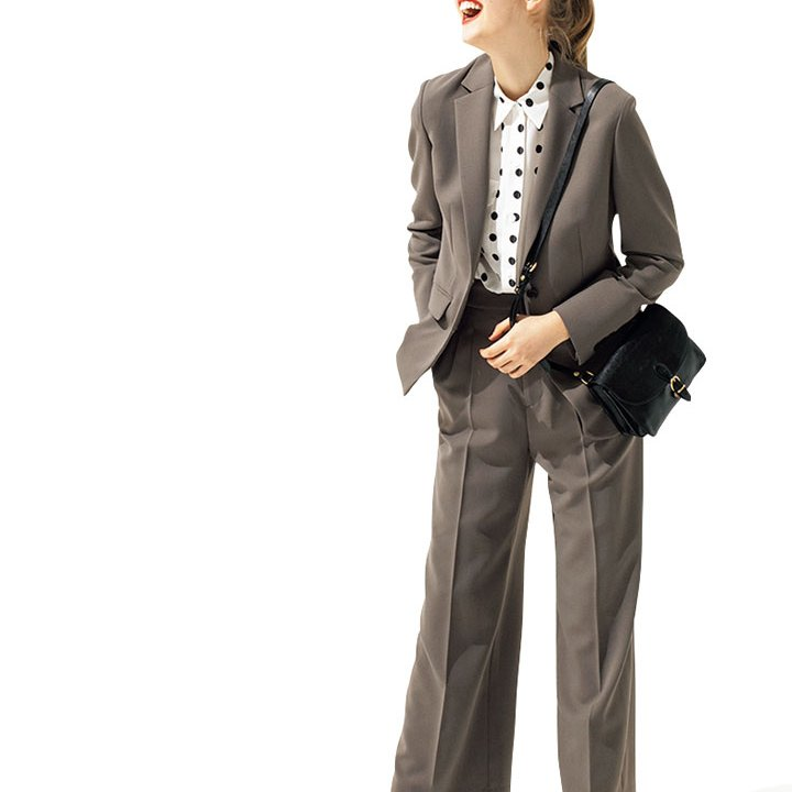 インナーにドットブラウスを合わせてより魅力的な着こなしに【本日のFUDGE GIRL-5月4日】