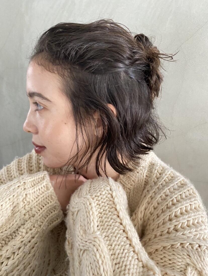 ショートボブ くせ毛